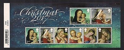 2017 Gb Qe2 Christmas Issue Commemorative Stamp Miniature Sheet With Barcode Mnh