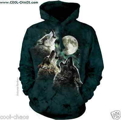 Bark at the Stars Night Moon Wolf Hoodie-Tie Dye Wolf Hoodie-Wolf Lovers Gift