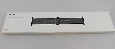 Authentic Nib Apple Watch Oem 42Mm Black Ss Buckle Replacement Band