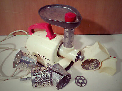 Vintage Moulinex Mincer Cutter Early Model Complete Collectible Working Vgc