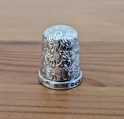Solid Silver - Henry Griffith & Sons Thimble 1888