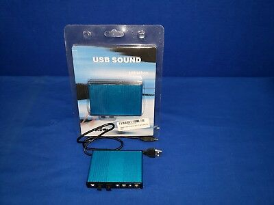USB External Optical Audio 6 Channel 5.1 Sound Card Adapter Laptop & Pc /Bonus!