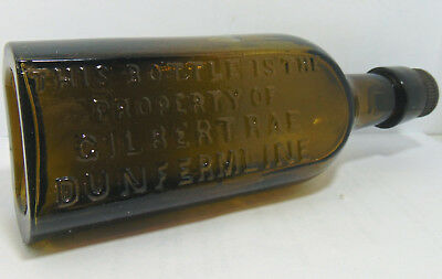 """Very Unusual Gilbert Rae of Dunfermline """"Flask"""" Mineral Water Bottle c1900's"""