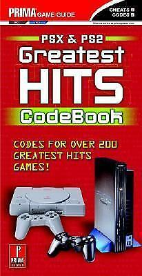 Greatest Hits Code Book by Prima Temp Authors Staff  ps2 psx Cheats
