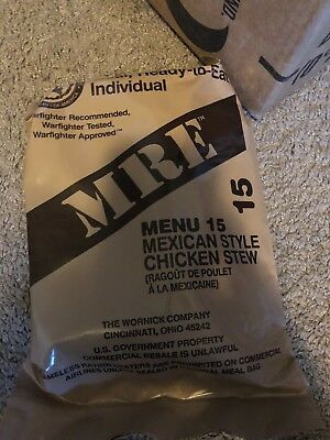 Military Mre New Indivual 2018 Inspection Meals Ready To Eat