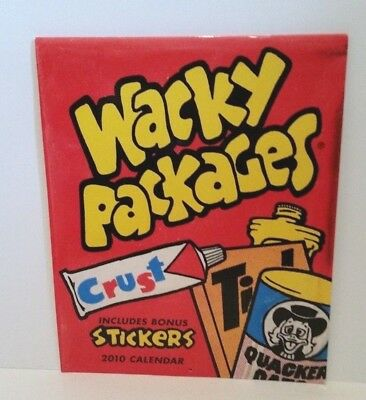 Topps Wacky Packages Parody Trading Cards 2010 Vintage Wall Calendar