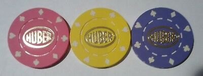 Huber Advertising Poker Chip Set Location Unknown Great For Any Collection!