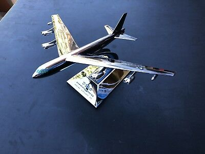 Rare B-52-G Stratofortress, Boeing Airplane Chrome Desk Model By Allyn Sales Co.