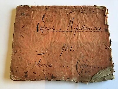 1782 Handwritten Harvard College Commonplace Book Thomas Crafts Sons of Liberty