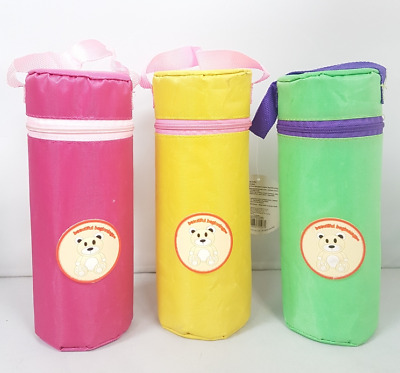 Pack Of 3 Infant Polystyrene Insulated Bottle Bag Baby Feeding Cooling Carrier