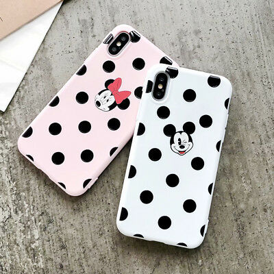 TPU Cute Silicone Mickey Disney Cartoon Phone Case Cover For iPhone X 6 7 8 Plus