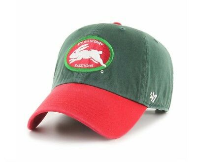 South Sydney Rabbitohs NRL 2019 Two Tone Primary '47 Clean Up Baseball Cap Hat!
