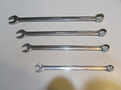 Lot#38 Snap-On Tools Oexlm Long Handle 12 Pt Combination Wrenches 10,13,15 &18Mm