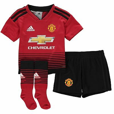 a6c6408f64c adidas Manchester United Home Mini Kit 2018 19 Infants Red Football Soccer  Strip