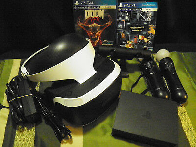 Sony PlayStation 4 VR Headset Bundle for PS4 DOOM Camera Move COMPLETE!