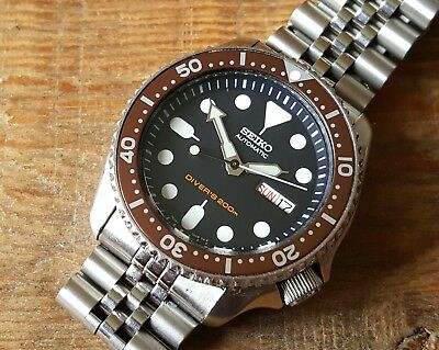 Gent's Stainless Steel Seiko Day-Date Automatic Diver's Watch Ref: 7S26-0020