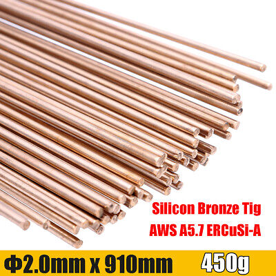 "91cm/35.8"" 50000PSI Gold Silicon Bronze Tig Welding Brazing Rods 1.5mm Dia S221"