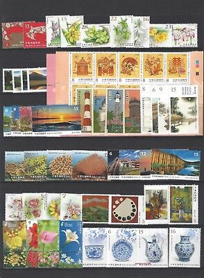 China Taiwan 2018 Whole Year of Dog Full Stamp set + Pig S/S
