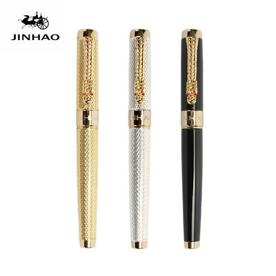Jinhao 1200 Metal China Fountain Pen Smooth Fine Nib 0.5mm/1.0mm Writing Gifts