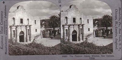 Stereoview Close-Up The Alamo Mission San Antonio Texas