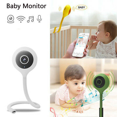 Wifi Baby Monitor Camera 2 Way Audio Cloud IR Night Vision Music Player UK Plug