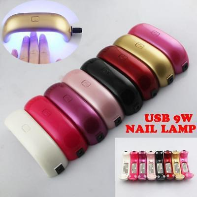 Small Portable 9W LED Nail Dryer Cure Lamp Machine For UV Gel Nail Polish Light