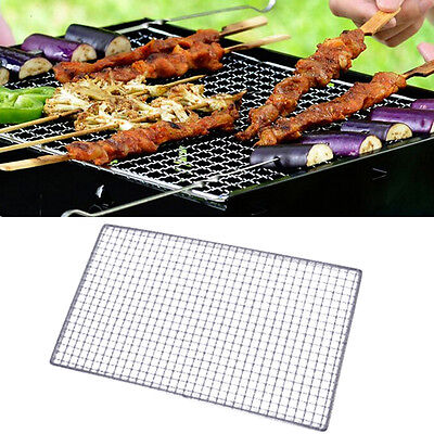 1x BBQ Grill Stainless Steel Net Wire Mesh Camping Barbecue Outdoor Picnic Pop
