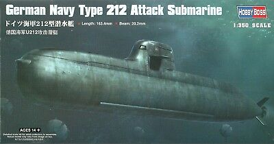 Hobby Boss 83527 German Navy Type 212 Attack Submarine - U Boot - 1:350