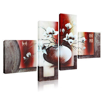 4pcs Large Christmas Modern Wall Mount Home Decor Art Painting Canvas Picture US