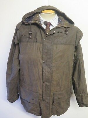 """Barbour A875 Classic Durham Waxed jacket - M 40"""" Euro 50 in Sage"""