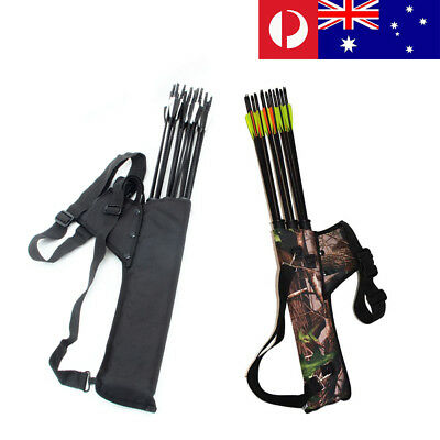 Pellor Bow Bag Arrow Holder Adjustable Strap 3-Tube Archery Quiver Cover Cases