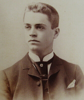 Cabinet Photo Of An Exceptionally Handsome Dapper Young Man San Francisco Calif