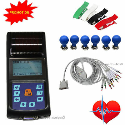 CONTEC Portable Hand-held Single Channel 12 Lead ECG EKG machine Printer ECG80A