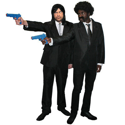 Adults 1990S Movie Hitmen Costumes Film Black Gangster Suits Shooter Fancy Dress