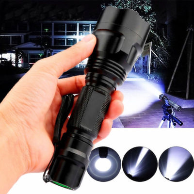 Ultra Bright 20000LM Zoomable Tactical Police 5 Modes T6 LED Flashlight Torch UK