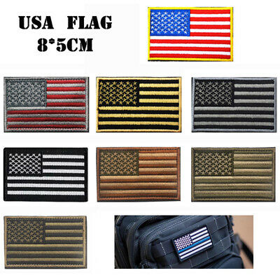 Embroidery Flag Tactical Patch Armbands Shoulder Rectangle Clothes Bag Ornament