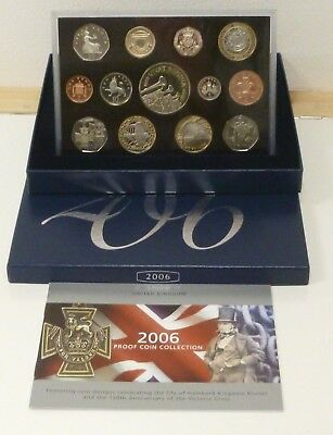 2006 Royal Mint UK Proof 13-Coin Year Set Includes Both VC 50p + Brunel £2 Coins