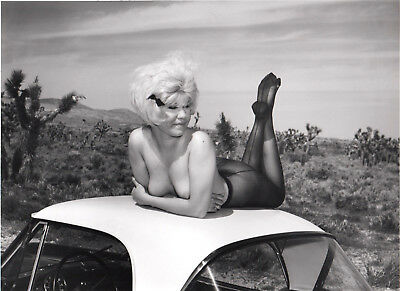 1960 ELMER BATTERS BLONDE DESERT BAS FETISH NU PHOTO Argentique VINTAGE 20,5X25