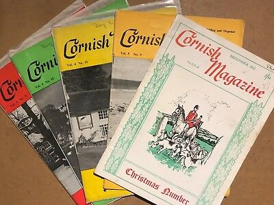 5 Copies Of CORNISH MAGAZINE from 1962 - Osler Family, Foguos, Delaware Rescue