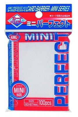 KMC CARD BARRIER 100 PERFECT FIT MINI SIZE SOFT SLEEVES for Yu-Gi-Oh 60x87mm