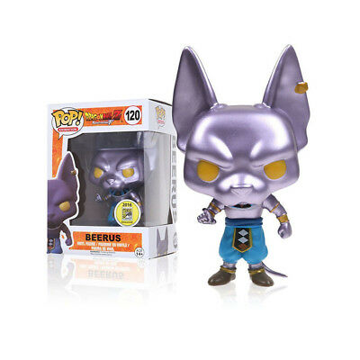 Funko Pop! Dragon Ball Super Metallic Vinyl Figure BEERUS 120 New Toys with Box