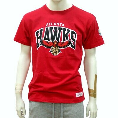 Mitchell & Ness Arch Traditional Logo T-Shirt Atlanta Hawks scarlet red NBA