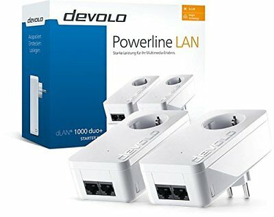 DEVOLO dLAN 1000 duo+ Starter Kit Powerline Adapter Steckdose 1000 Mbit/s