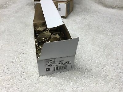 Hager, Schlage 'C' Keyblanks, full box, 5 or 6 Pin, Nickle-Silver, Locksmith