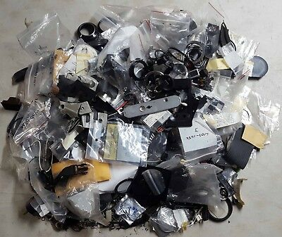 9Lbs Old Film Camera Parts, Screws, Springs, Etc