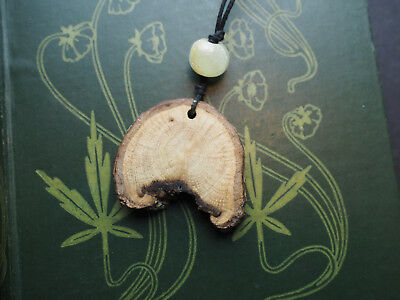 Cornish Oak Wooden Pendant with cord - Strength - Pagan, Druid, celtic, ogham