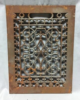 One Antique Rectangular Heat Grate Grill Decorative 9X12 694-18C