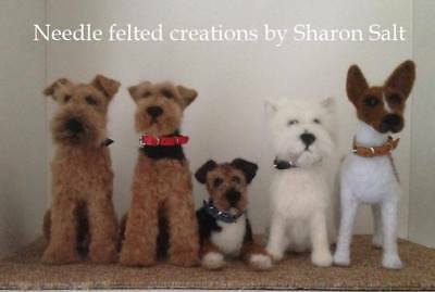 tiny leather collar,170mm x 7-8mm needle felted dogs and models,  Ooak