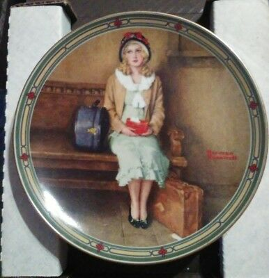 PLATE: NORMAN ROCKWELL: A YOUNG GIRL'S DREAM 1985 original box & certificate