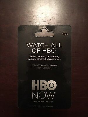 HBO NOW gift card $50